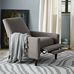 Christopher Knight Home Darvis Grey Recliner Club Chair | Overstock ...