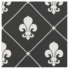 Fleur De Lis Pattern Fabric for Upholstery, Quilting, & Crafts ...