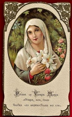 Jesus Mother, Blessed Mother, Mother Mary, Hail Holy Queen, Hail Mary, I Love You Mother, Vintage Holy Cards, Christian Artwork, Art Thou
