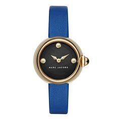 Image of Marc Jacobs Women's Courtney Leather Strap Watch Marc Jacobs Uhr, Marc Jacobs Watch, Chunky Jewelry, Leather Jewelry, Gold Jewellery, Jewelery, Marc Jacobs Jewelry, Fashion Watches, Women's Accessories