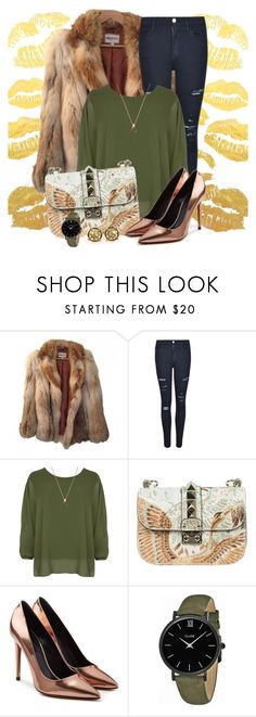 """#593"" by joanaraquelgt ❤ liked on Polyvore featuring American Retro, Frame, WearAll, Valentino, Alexander Wang and CLUSE"