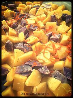 Patate gialle e viola