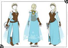 Steampunk Elsa - Cosplay Concept Art by Mibu-no-ookami on deviantART