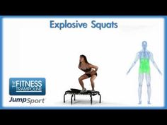 JumpSport Fitness Trampoline Exercises - Explosive Squats (+playlist)