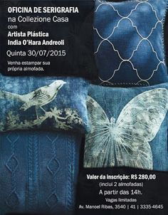 30/07 ♥ Oficina de Serigrafia com a Artista Plástica India O'Hara Andreoli ♥ Curitiba ♥ PR ♥  http://paulabarrozo.blogspot.com.br/2015/07/3007-oficina-de-serigrafia-com-artista.html