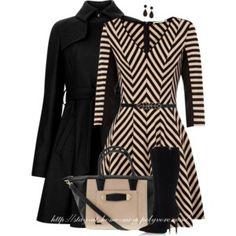 OASIS Chevron Stripe Skater Dress
