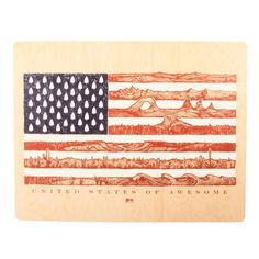 United States of Awesome Wood Wall Art | Huckberry $120