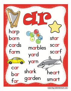 6/2013 Free r-controlled vowels posters.