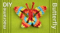 M How to: Macramé Butterfly / Papillon, Farfalla, Mariposa, Borboleta, Schmetterling, Бабочка