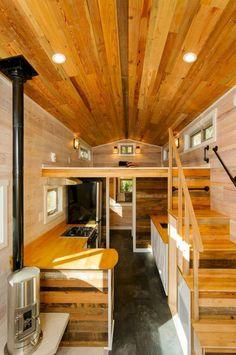 Amazing loft stair for tiny house ideas (48)