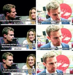 Sheo is realo! Divergent Memes, Divergent Hunger Games, Divergent Fandom, Divergent Trilogy, Divergent Insurgent Allegiant, Disney Divergent, Insurgent Quotes, Tris And Four, Theo James