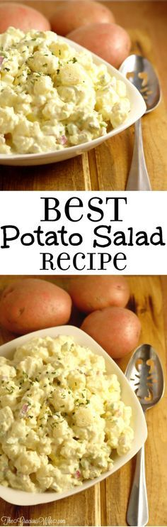 Best Potato Salad Recipe - Easy classic southern potato salad recipe. I never like potato salad until I tried this recipe. It's seriously the BEST!