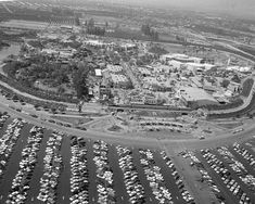 See more photos from Disneyland's inaugural season:This aerial view shows Disneyland as invited guests attend opening day festivities of the amusement park in Anaheim, Ca., on July Photo: ASSOCIATED PRESS / Disneyland Opening Day, Disneyland Photos, Vintage Disneyland, Disneyland History, Disneyland California, Disney Theme, Disney Fun, Walt Disney, Disney Stuff