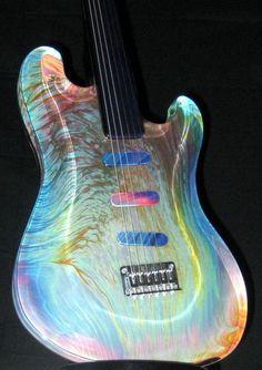 Fender Guitar Glass Sculpture by Dino Rosin - Friday Strat #227 ~ Strat-O-Blogster Guitar Blog