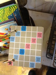 Journals made from old scrabble boards