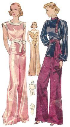 Women S Fashion Designer Labels 1930s Fashion, Art Deco Fashion, Vintage Fashion, Vintage Vogue, Vintage Glamour, Gothic Fashion, Victorian Fashion, Fashion Fashion, Modern Sewing Patterns