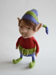 Posable Small Needle Felted Elf by TheGrumpyGnome on Etsy