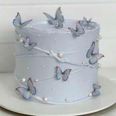 Butterfly Birthday Cakes, Beautiful Birthday Cakes, Butterfly Cakes, Beautiful Cakes, Amazing Cakes, Cake Birthday, Tiered Birthday Cakes, Cakes With Butterflies, Simple Birthday Cakes