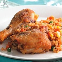 Arroz con Pollo (Chicken and Rice) ... one pot cooking! Make sure broth is MSPI-friendly.