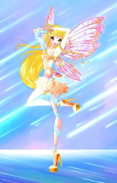 Winx Club: 'Cosmic Supernova' [Stella Lustrarix] by TheGuardianFaerie on DeviantArt Winx Magic, Wings Sketch, Male Fairy, Les Winx, Flora, Bloom Winx Club, Bff Drawings, Little Poni, Animated Icons