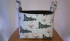 Steelers fabric storage basket/bin