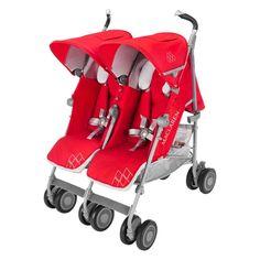 Maclaren Twin Techno Lightweight Stroller - Cardinal - WM1Y130452