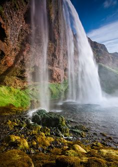 Seljalandsfoss, southern coast of Iceland ✯ ωнιмѕу ѕαη∂у