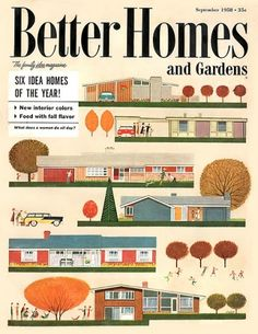 The six idea homes of the year- 1958