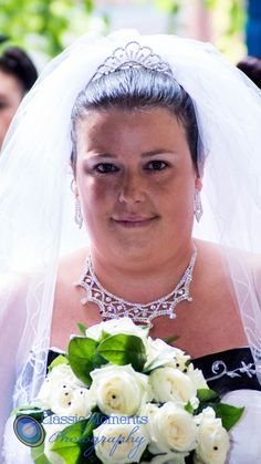 A bride walking in to the church