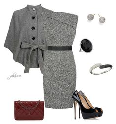 Untitled #776 by julia0331 on Polyvore featuring polyvore, fashion, style, Victoria Beckham, Forever 21, Giuseppe Zanotti, Chanel, Ippolita, Swarovski and clothing