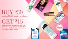 FREE $15 Visa Gift Card wyb $50 worth of participating P&G products Rebate