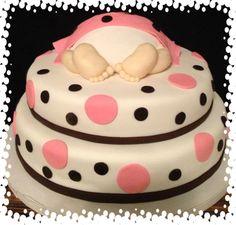 Fondant baby rump cake