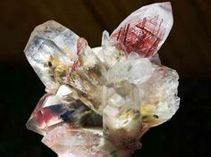 Quartz with Rutile and Green Fuchsite inclusions from Brazil