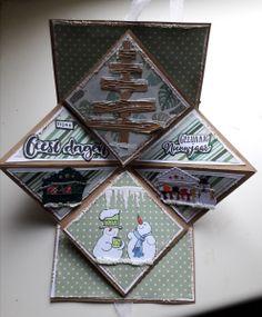 Best 11 Pop up kaart Creative Christmas Cards, Christmas Cards To Make, Xmas Cards, Creative Cards, Diy Cards, Fancy Fold Cards, Folded Cards, Up Book, Marianne Design