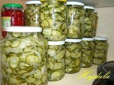 Ingredienser 4 kg gurka 2 kg lök 1 dl salt 8 dl socker 3 dl vatten 4 dl … Homemade Wine, Larder, No Bake Cake, Pickles, Cucumber, Food And Drink, Dishes, Canning, Vegetables