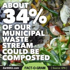 Fact: 34% of our waste stream could be composted.   #waste #environment
