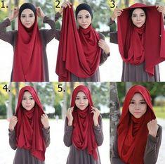 Simple and simple look hijab tutorial . Simple and simple look hijab tutorial … – … Si… Simple and s Niqab, Tutorial Hijab Pashmina, Hijab Style Tutorial, Stylish Hijab, Hijab Chic, Abaya Designs, Hijab Dress, Hijab Outfit, Turban Hijab