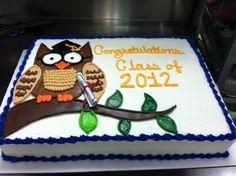 Owl Graduation Cake  on Cake Central