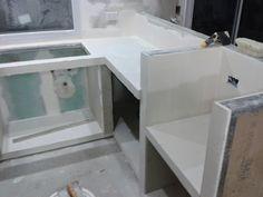 Taringa! Hice mi casa en Steel Framing y quiero compartirlo Steel Framing, Living Comedor, Corner Desk, Furniture, Home Decor, Drywall, Gypsum, Frame, Ideas