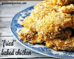 """Are you looking for a great way to lighten up a classic favorite like fried chicken? My """"Fried"""" Baked Chicken recipe does just that! The flavored Panko bread crumbs give this dish that …"""
