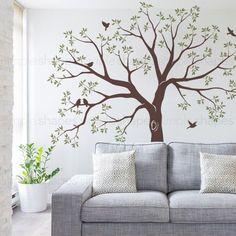 Familia escalera árbol pared calcomanía árbol etiqueta