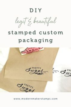 DIY LEGIT & BEAUTIFUL Custom Packaging Ideas from Modern Maker Stamps - Custom Rubber Stamps - Logo Stamp Etsy Package Ideas - Kraft Paper Tissue Paper Custom Stamp Creative Gift Wrapping, Creative Gifts, Custom Packaging, Packaging Ideas, Custom Gifts, Customized Gifts, Birthday Gift Wrapping, Custom Rubber Stamps, Paper Supplies