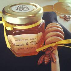 Honey favors at the Bridal Shower! #StephaniesWedding
