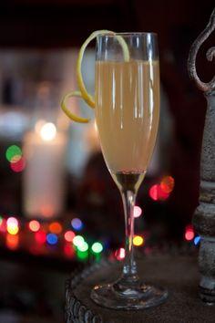 french 95: bourbon, orange juice, lemon juice, simple, champagne