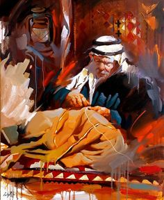 A gorgeous painting by Iraqi painter ALI NEMAH
