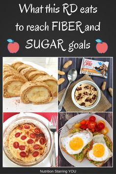 #ad What this RD eats to reach fiber and sugar goals according to the US Dietary Guidelines. @LaurenPincusRD
