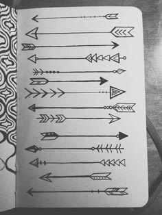 """lauren-salgado: """"Arrows on arrows on arrows. Drawn with microns in my little red moleskine. """""""