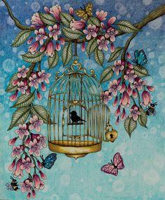 Done :-) #blomstermandala #mariatrolle #coloring #coloringbook…