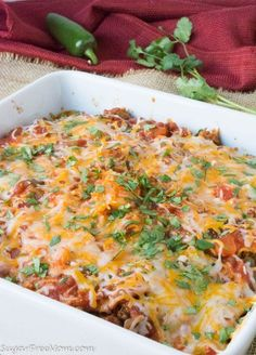 This easy layered Mexican lasagna is layered with my popular Low Carb Cauliflower Tortillas! It's gluten free, grain free and low carb! Low Carb Recipes, Beef Recipes, Cooking Recipes, Healthy Recipes, Lasagne Recipes, Easy Lasagna Recipe, Healthy Meals For Kids, Easy Meals, Healthy Eating