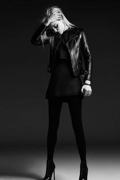 #Saint #Laurent Leather #Jacket